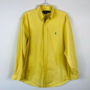 Ralph Lauren Yellow Classic Fit Button Shirt